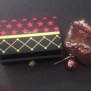Mac lipstick box and makeup bag small